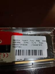 Título do anúncio: Memória DDR4 8GB 3000MHz HyperX