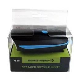 Farol com busina recarregável USB
