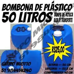 Bombona 50 Litros Com Alça Tambor Galão Tonel Reservatório de plástico 50 Litros