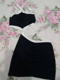 Vestido baladinha Tamanho M, cor preto