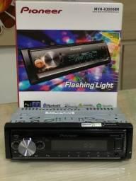 Som automotivo Pioneer MVH X3000br com USB e bluetooth somos loja física