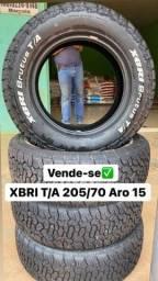 Título do anúncio: XBri T/A 205/70 R15 semi novos