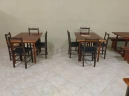 Mesas ,cadeiras e balcão