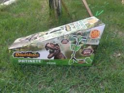 Patinete infantil  com cesta dinossauros- dm radical- novo- nunca usado.