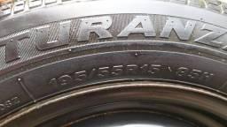Roda de ferro Vw e pneu Bridgstone aro 15