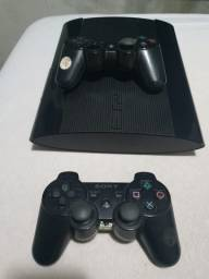 Título do anúncio: PlayStation 3 Slim com dois controles