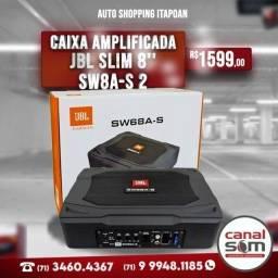Caixa Amplificada Jbl Slim 8'' Sw8a-s 2 Canais Ativos Original (instalada)
