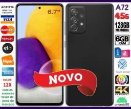 """Galaxy A72 128GB, Octa Core, 6GB Ram, Tela 6.7"""", 4Câm 64MP, Novo, Cx, NF, Gar, Troco"""