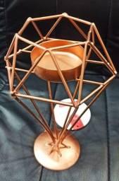 Título do anúncio: Castiçal aramado rose gold pendulo