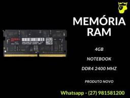 Memória Ram DDR4 Puskill 4Gb 2400MHz - Notebook (Produto novo e com Garantia)