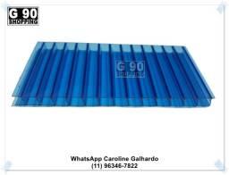 Título do anúncio: Chapa de Policarbonato Alveolar Azul 1,05 x 6,00 10mm
