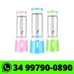 Mini Liquidificador Portátil Copo Vidro 6 Lâminas