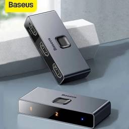 Título do anúncio: Divisor / Switch Hdmi Baseus Matrix 4k - para Monitores/TVs/Notebooks/Video Games - Novo