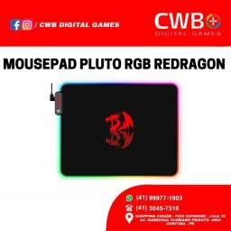 Mousepad Gamer Redragon Pluto P026, RGB,Com NF, Loja Fisica