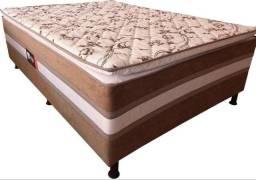ColchãoBox Acoplado Casal Espuma 9cm Altura com Pillow Top - Só R$649,00