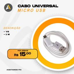 Carregador Universal v8 (Samsung, Motorola, LG)