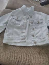 Jaqueta jeans infantil Tam 3-4