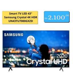 """Smart tv led 43"""" Samsung Crystal 4K HDR"""