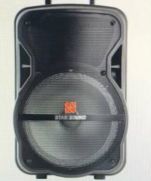 Título do anúncio: Caixa amplificada Sonatec 8? Star Sound SS-80
