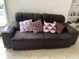 Título do anúncio: Sofá cama marrom novíssimo