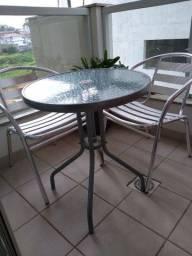 Conjunto de mesa com 2 cadeiras de alumínio