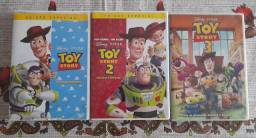 DVDs Toy Story - 1, 2 e 3
