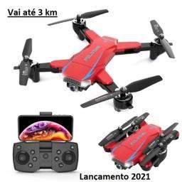Título do anúncio: Drone D18 gps video 4k/ 5g 2.4ghz/ duas cameras/ vai até 3 km. pronta entrega