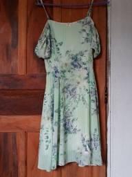 Vestido verde florado