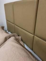 Título do anúncio: Vendo cama casal baú com colchão