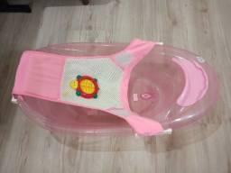Banheira de Bebê Menina com Redinha e Termômetro