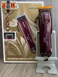 Título do anúncio: Kemei corte 2600 Cordless / original novo lacrado / somos loja física do barbeiro
