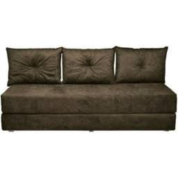 sofa cama sofanete 3 lugares - oferta especial - pague na entrega