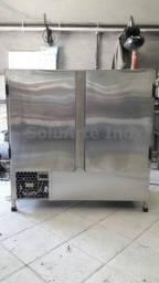 balcão freezer/refrigerado todo de aço inox, tudo 100% inoxidavel!!!!!