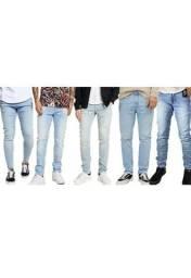 Kit 3 Calças Jeans Masculina Slim fit Elastano lycra<br><br>