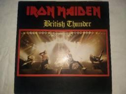 Lp raro airon maiden britsh thunder edição limitada 200 cópias
