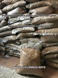 Granulados madeira pellets areia higiênico p/gato/ roedores compra 10 ganha 1 promoção