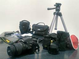 KIT Nikon D3200 + Tripé Pro comprar usado  Recife