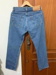 4b8ac1215b3147 Calça jeans masculina Levis 501 W32 L30, tamanho 4
