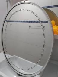 Espelho de cristal oval