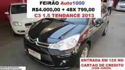 C3 1.5 Tendance Top De Linha. R$4.000,00 + 48x - 2013