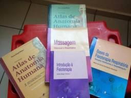 Kit de livros de anatomia e fisioterapia