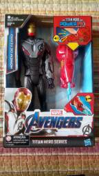 Boneco Homem de Ferro Power FX com acessório