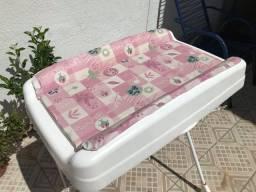 Banheira de Bebê Burigotto c/ Suporte e Trocador