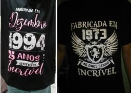 Camisas ou camisetas personalizadas (estampas em serigrafia / silk / sublimação)