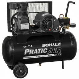 Compressor De Ar 7.4 Pés 125 Psi 50 Litros Monofásico 110/22