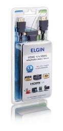 Cabo hdmi 3 em 1 com adaptadores / conversores mini e micro