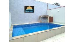 Casa 02 dormitórios com Piscina em Mongaguá lado praia