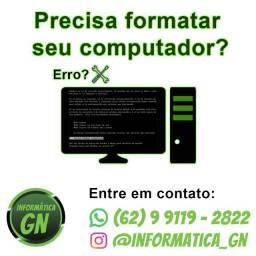 Técnico em informática, Formatar computador e notebook