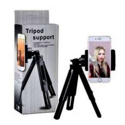 Tripé De Mesa Para Celular TriPod Support - Câmeras Cell - Vertical E Horizontal Alumínio