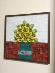 Quadro Floral mosaico